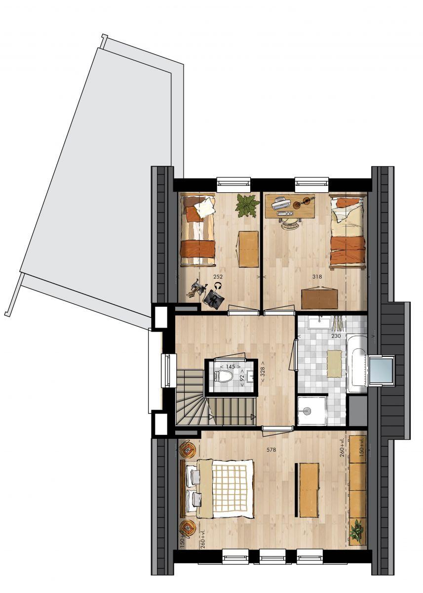 Bruin oranje muur kleur - Idee schilderen ruimte ontwerp ...