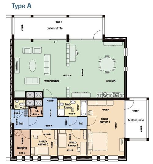 scherm tussen keuken en kamer